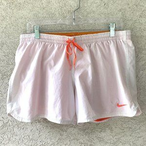 Nike Shorts White Orange Women's Large